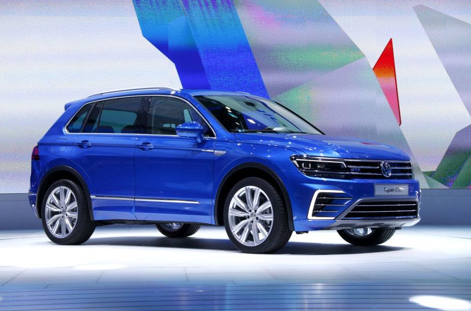 """""""Volkswagen Tiguan"""" pristatymas Frankfurto automobilių parodoje"""