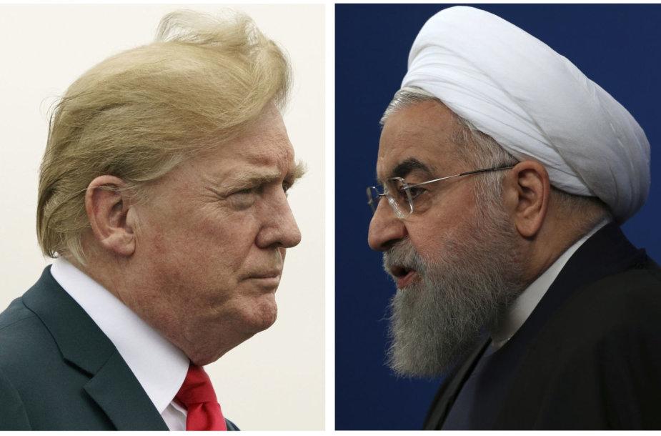 Donaldas Trumpas ir Hassanas Rouhani