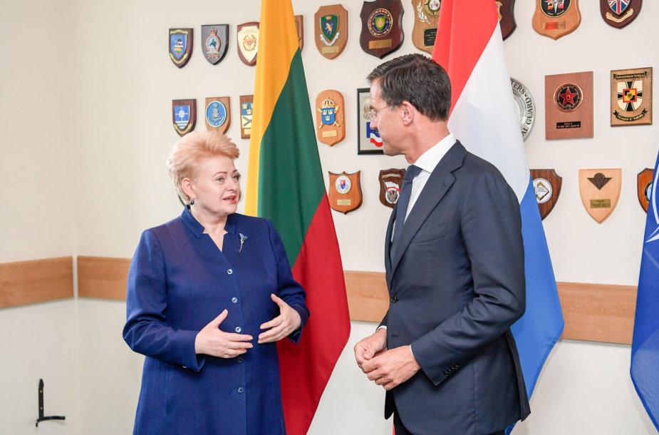 Prezidentės susitikimas su Nyderlandų premjeru Marku Rutte