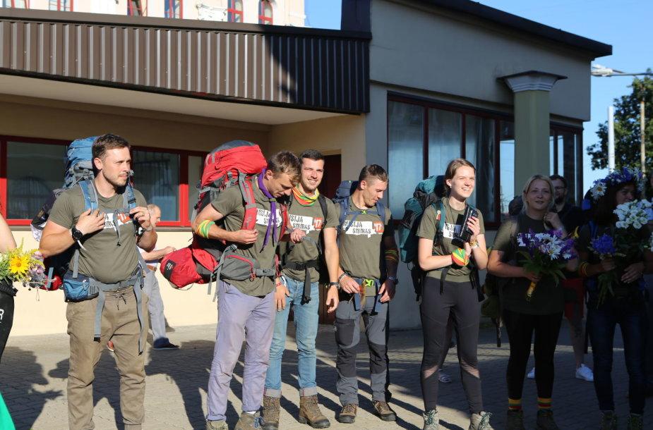 """Ekspedicijos """"Misija Sibiras'17"""" dalyvių pasitikimas"""