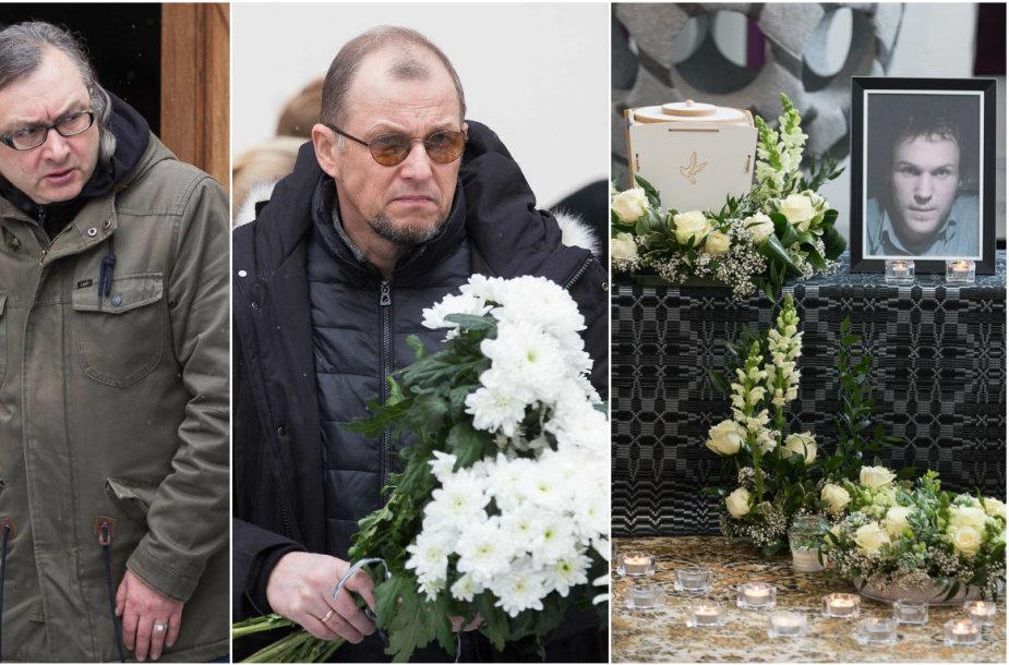 Su Audriumi Kemežiu atsisveikinti atvyko ir Arūnas Matelis bei Vytautas V. Landsbergis