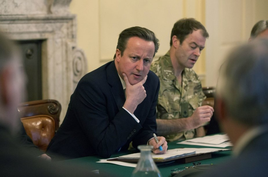 Britų premjeras Davidas Cameronas