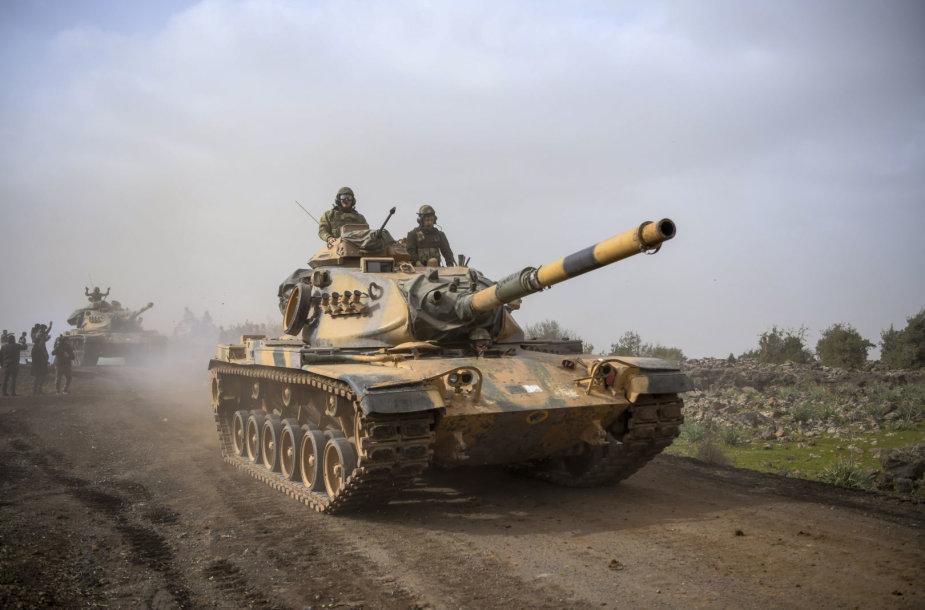 Turkijos pajėgos Sirijos šiaurėje