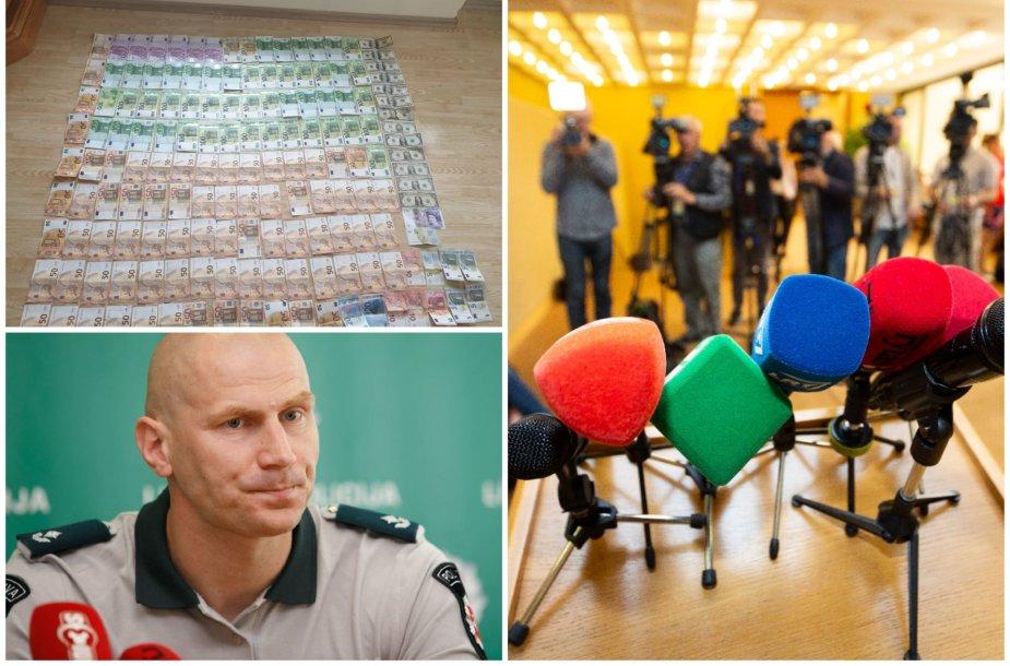 Spaudos konferencija apie Kauno policiją krečiantį skandalą