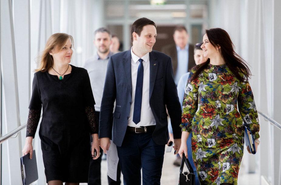 Aušra Papirtienė, Tomas Tomilinas ir Inga Ruginienė