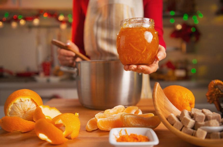 Apelsinų džemo gaminimas