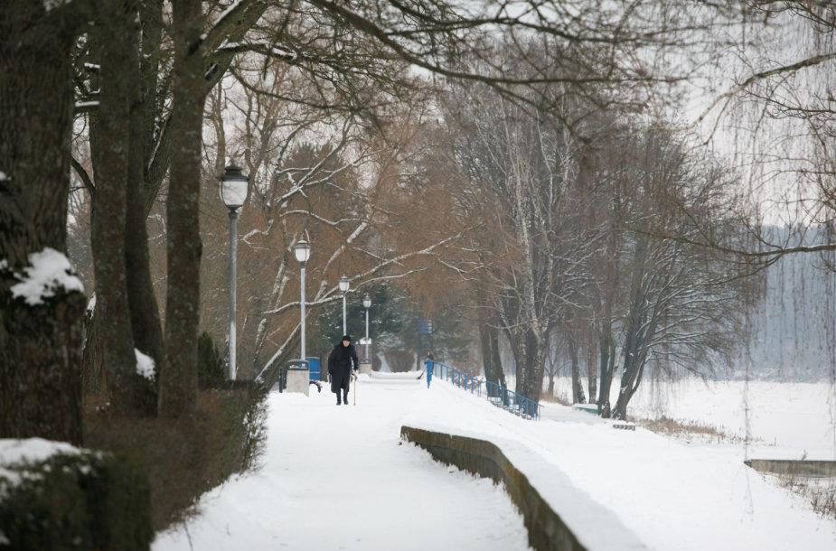 Birštonas žiemą