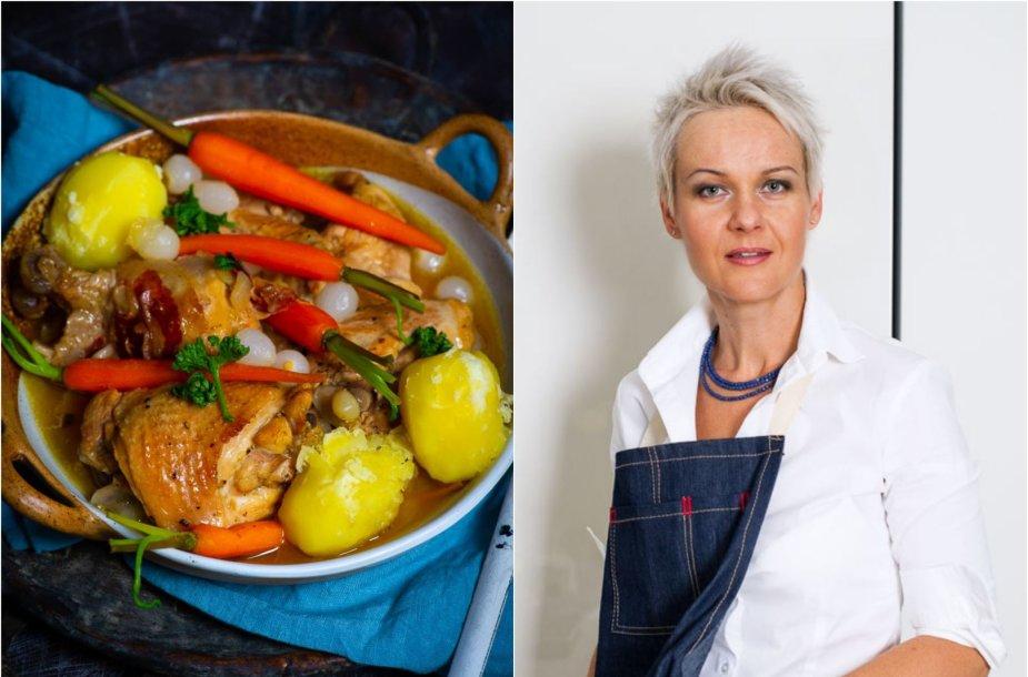 Nida Degutienė ir jos ruoštas patiekalas