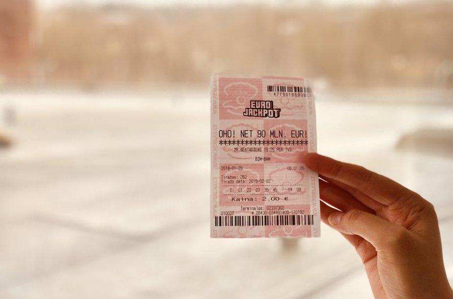 """Antroje didžiausioje Europos loterijoje """"Eurojackpot"""" laukia maksimalus galimas prizas – net 90 mln. Eur."""