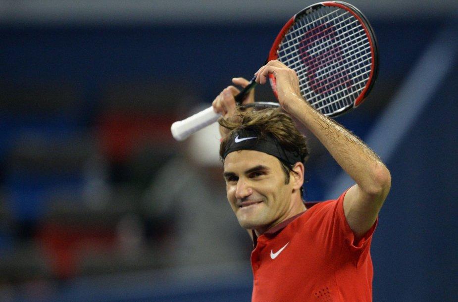 Rogeris Federeris iškovojo nepamirštamą pergalę Šanchajuje
