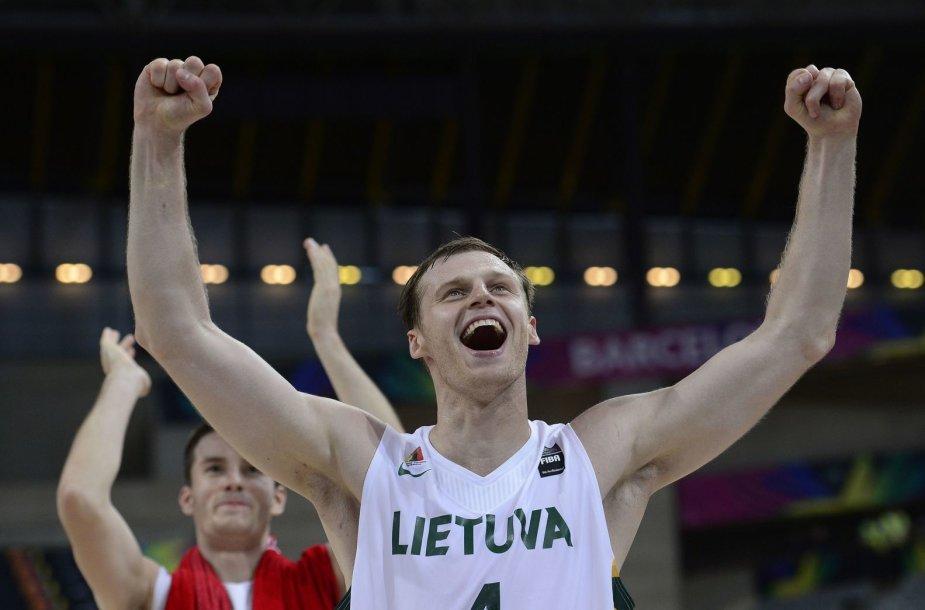 Lietuvos krepšinio rinktinės žaidėjas Martynas Pocius