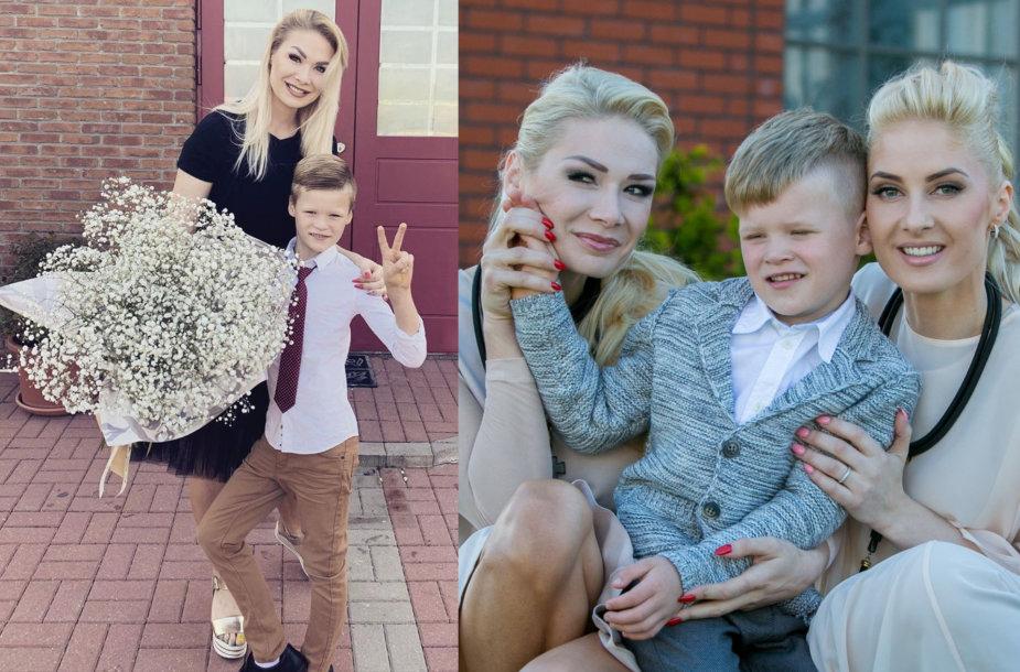 Natalija Bunkė su sūnumi Kristupu ir Kristina Ivanova