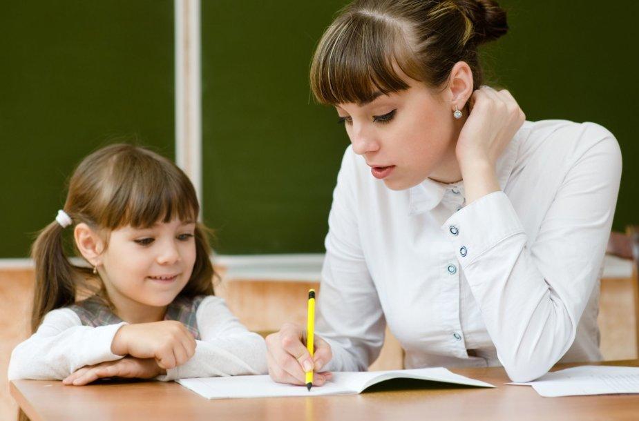 Mokinė ir mokytoja