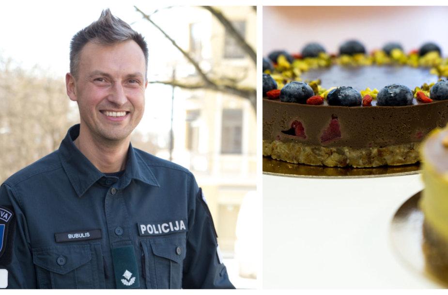Kauno policijos pareigūnas gamina sveikuoliškus tortus