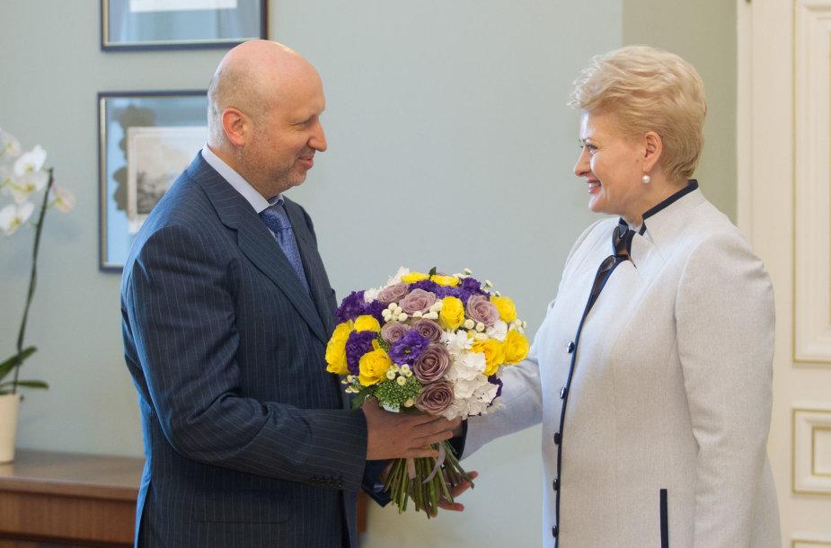 Oleksandras Turčynovas ir Dalia Grybauskaitė