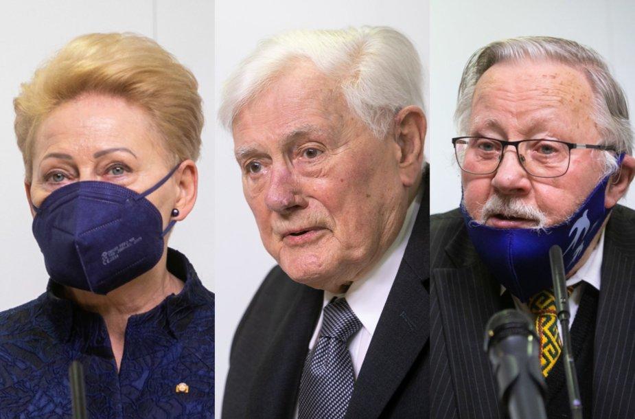 Dalia Grybauskaitė, Valdas Adamkus, Vytautas Landsbergis