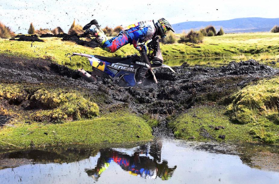 Dakaras 2018: lietingas ir purvo kupinas 7 greičio ruožas