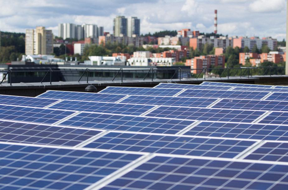 """Saulės elektrinė """"Technopolyje"""""""