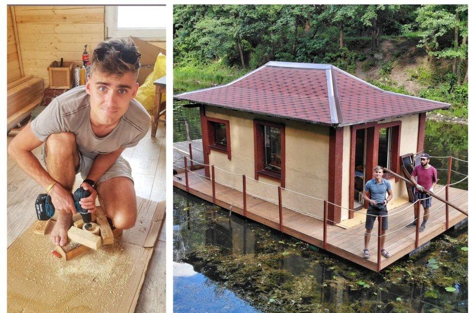 Simonas Dailidė ir jo namelis vandeny