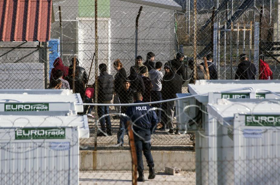 Migrantų sulaikymo centras Šiaurės Graikijoje