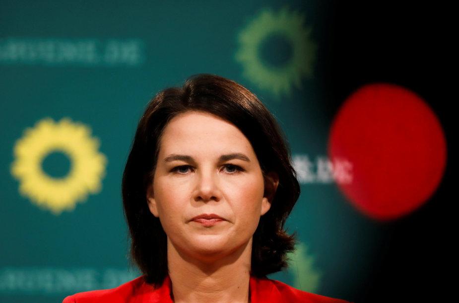 Vokietijos žaliųjų kandidatė į kanclerius Annalena Baerbock