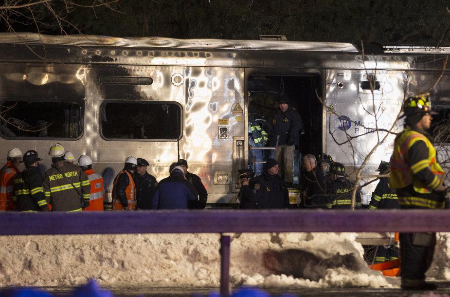 Traukinio avarija Niujorke