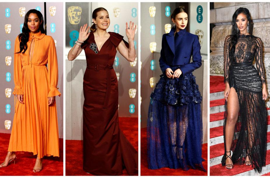 BAFTA viešnios ant raudonojo kilimo