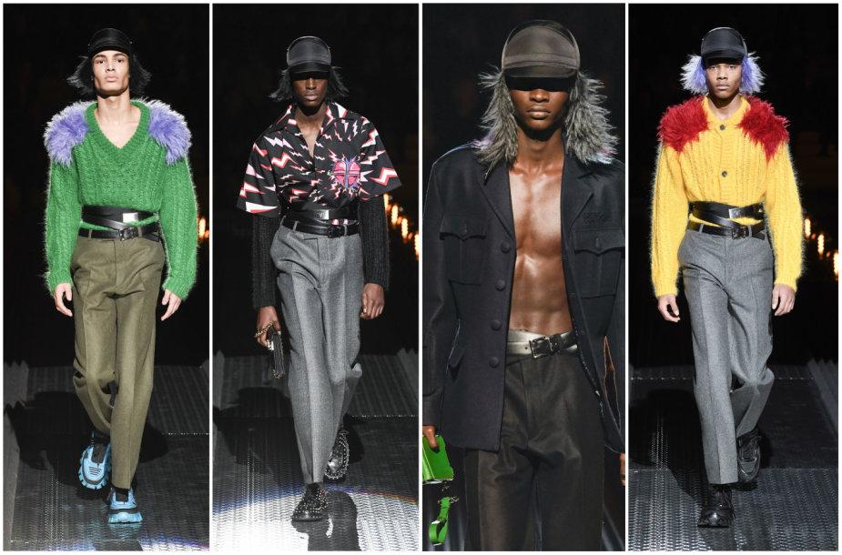 """""""Prada"""" 2019–2020 m. rudens ir žiemos kolekcijos modeliai"""