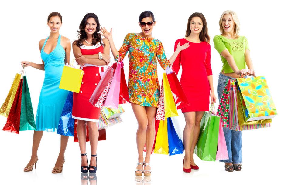 Apsipirkusios laimingos moterys