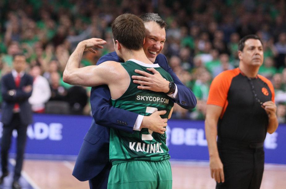 Šarūnas Jasikevičius ir Kevinas Pangosas