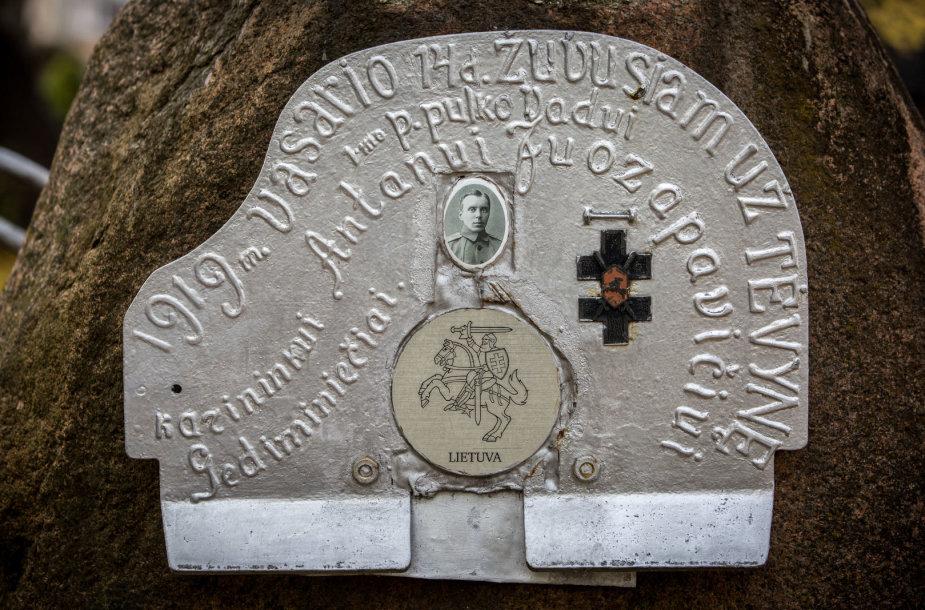 Karininko Antano Juozapavičiaus kapas Alytuje