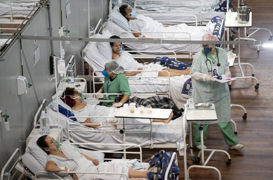 Koronaviruso pacientai Brazilijoje