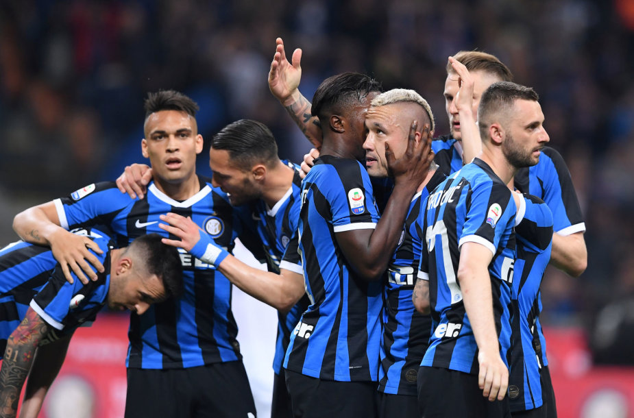"""Inter"" futbolininkai po pergalingo įvarčio"