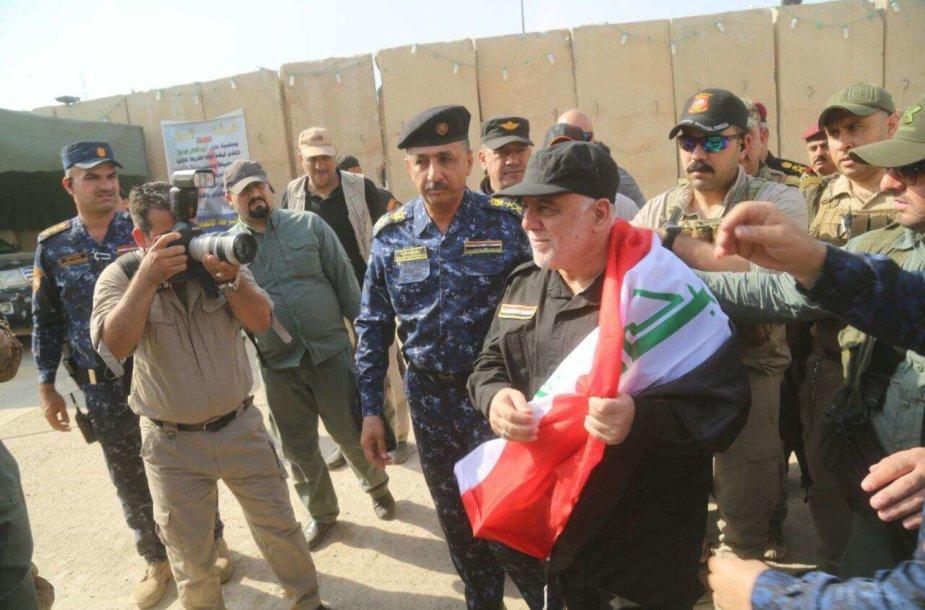 Irako premjeras Haideras al Abadi Mosule
