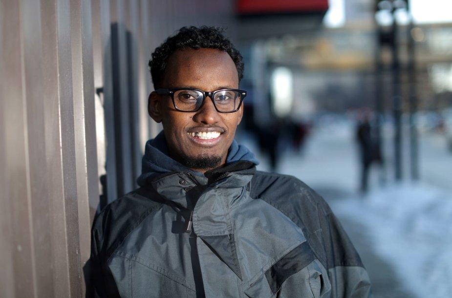 Vienas iš JAV į Kanadą atvykusių somaliečių.
