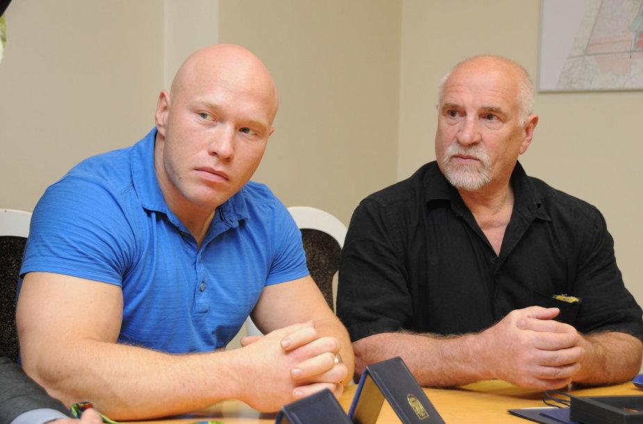 Aurimas Didžbalis ir jo treneris Bronislovas Vyšniauskas