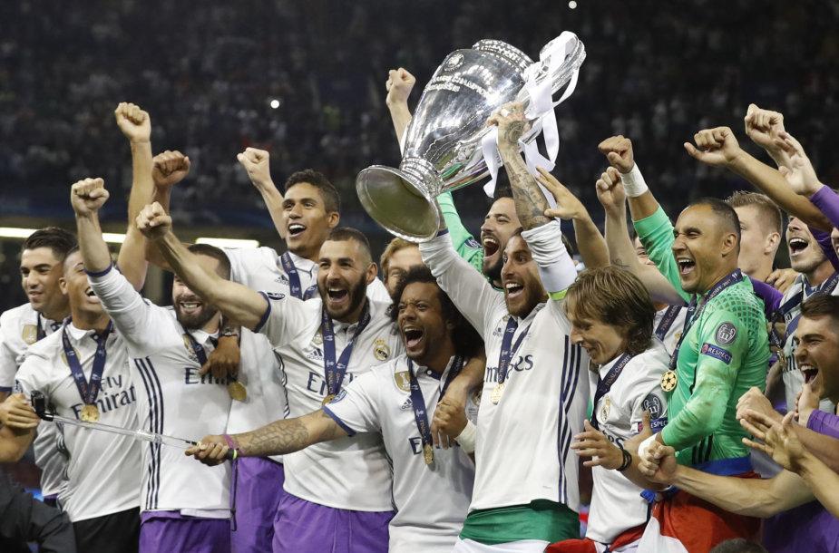 """""""Real"""" triumfas 2016-17 m. Čempionų lygoje"""