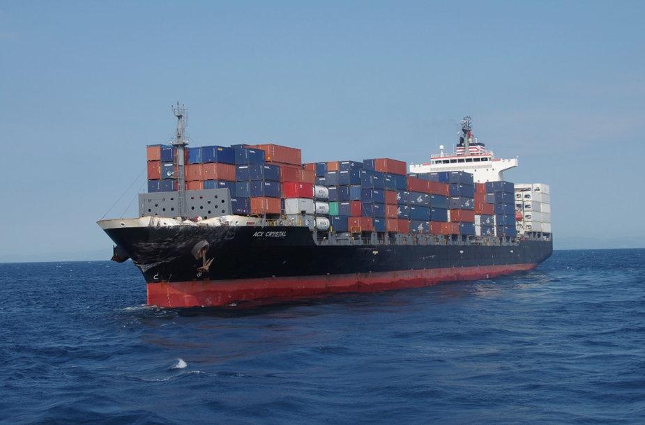 Susidūrė JAV minininkas ir prekinis laivas