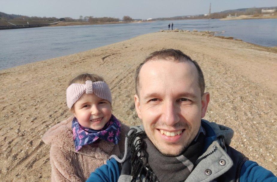 Elžbieta ir jos tėtis Marijus