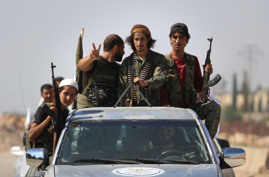 Sirijos sukilėliai Idlibe