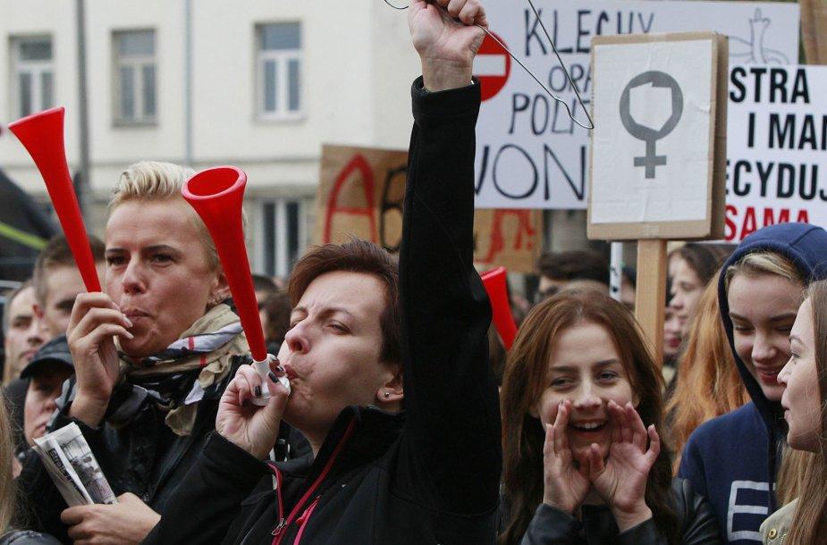 Moterų protestas Lenkijoje