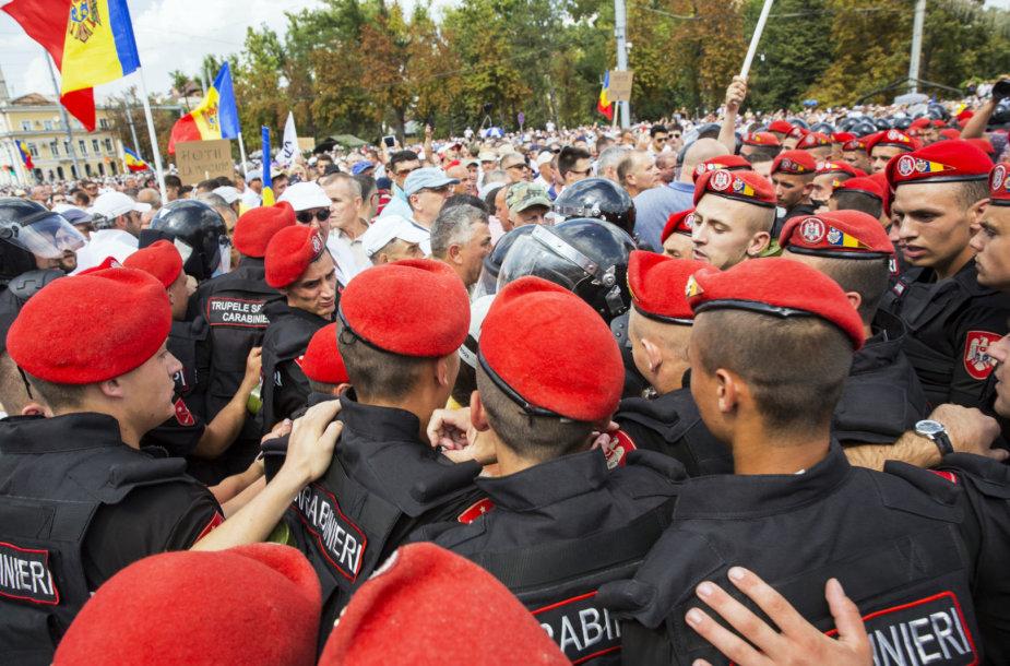 Susirėmimai Moldovos sostinėje