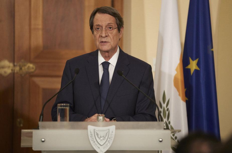 Kipro prezidentas Nicos Anastasiadesas