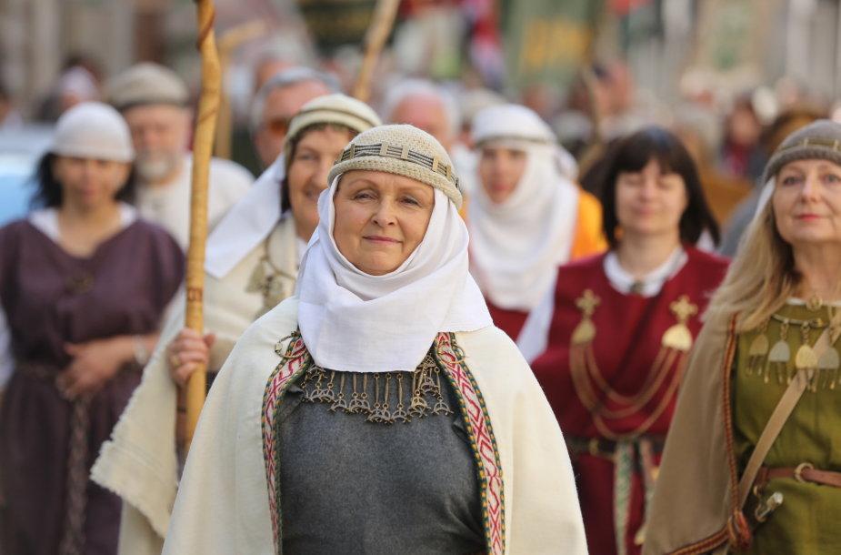 Vilniaus Gedimino kalne vyko Lietuvos Romuvos Krivės įšventimo apeiga.