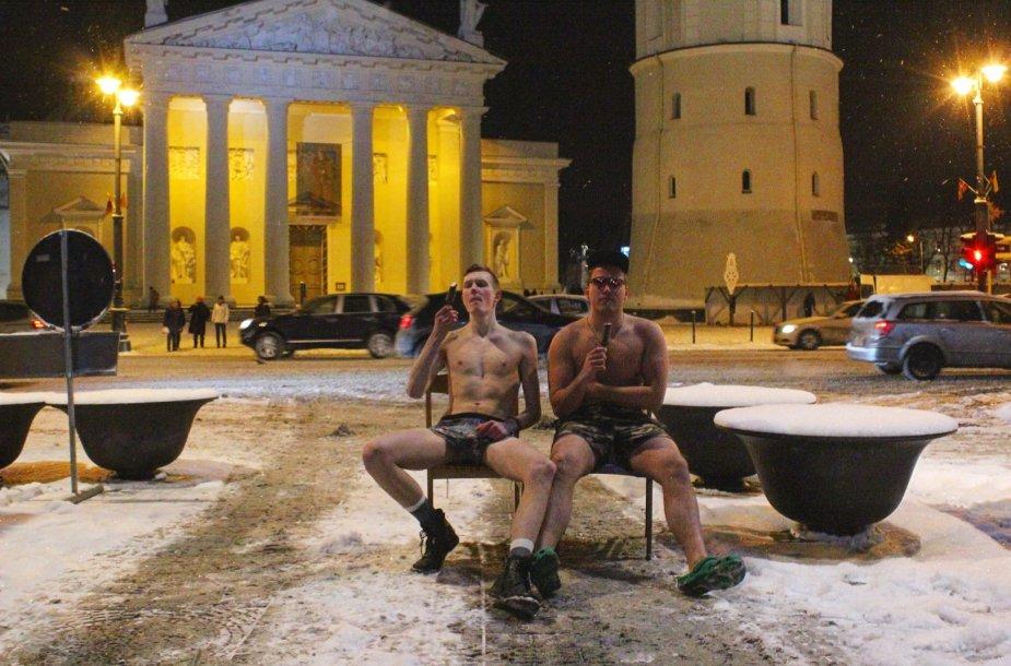Artūro Kudelko ir jo bičiulio akcija stingdančio pavasario proga