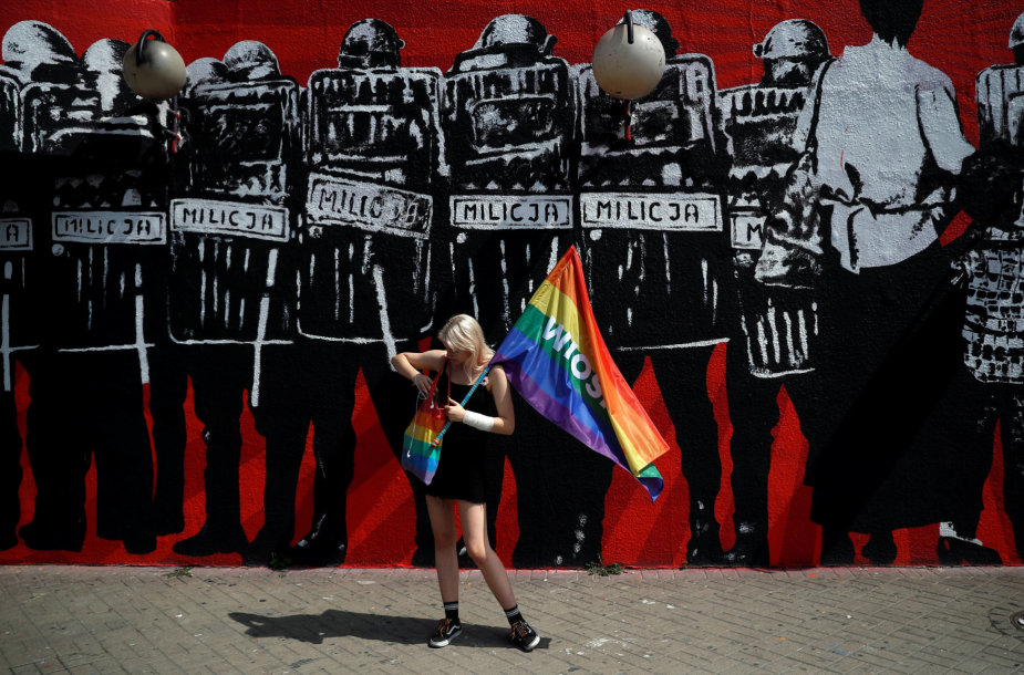 Protestas prieš homofobiją Varšuvoje