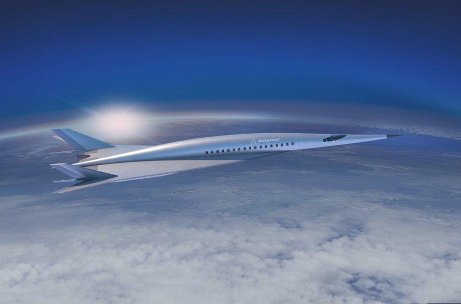 """""""Boeing"""" hipergarsinio lėktuvo koncepcija"""