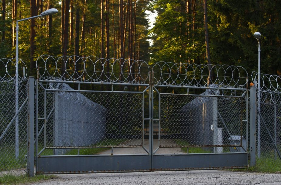 CŽV kalėjimą juosianti tvora Lenkijoje