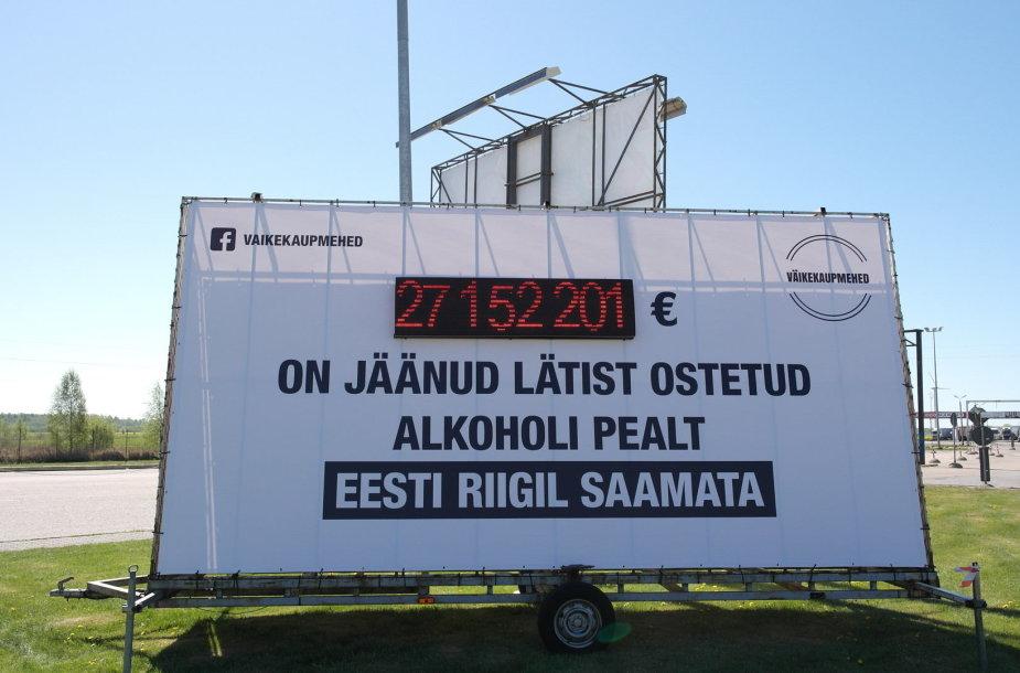 Akcizo praradimus skaičiuojantis stendas Estijoje