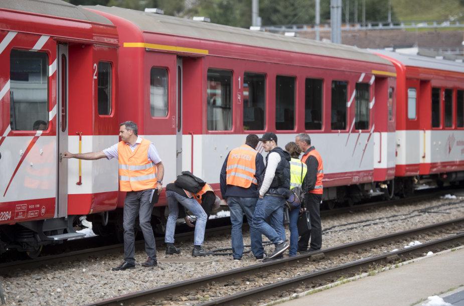 Šveicarijoje per traukinio avariją sužeisti 27 žmonės